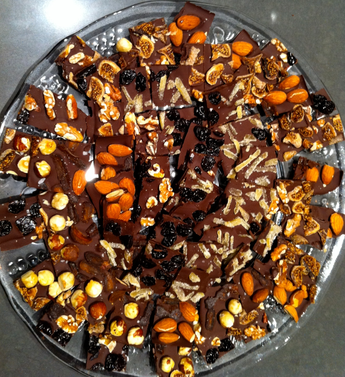 Yes we're going to a party, party - Dark Chocolate Bark