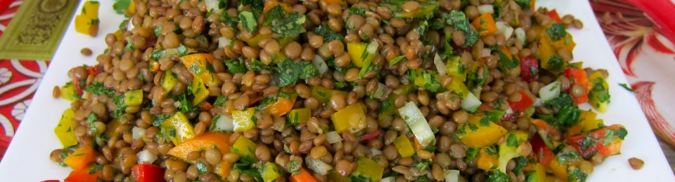 Super Tasty Lentil Salad – Spread the Word!   jittery cook