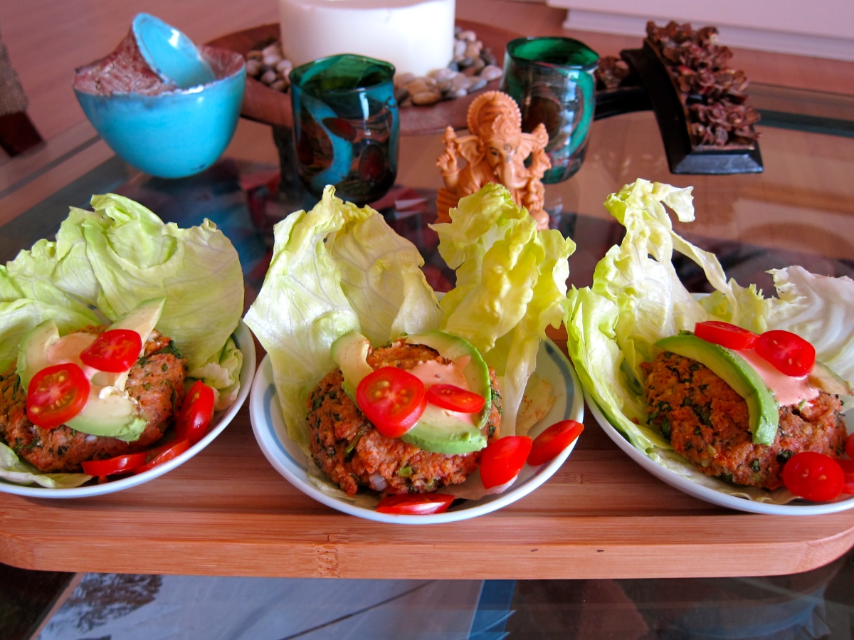 Chipotle Salmon Lettuce Wrap - A meal to sing about!