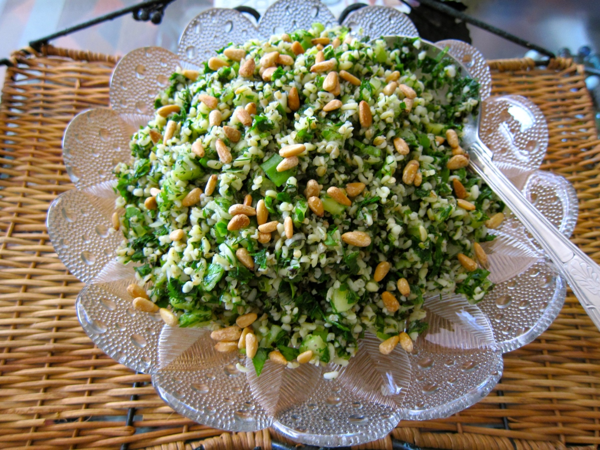 Bulgur Salad with Parsley Cucumber and Mint