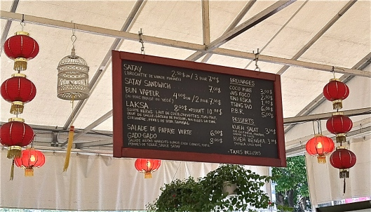 Satay Brothers Atwater Market Montreal - Menu