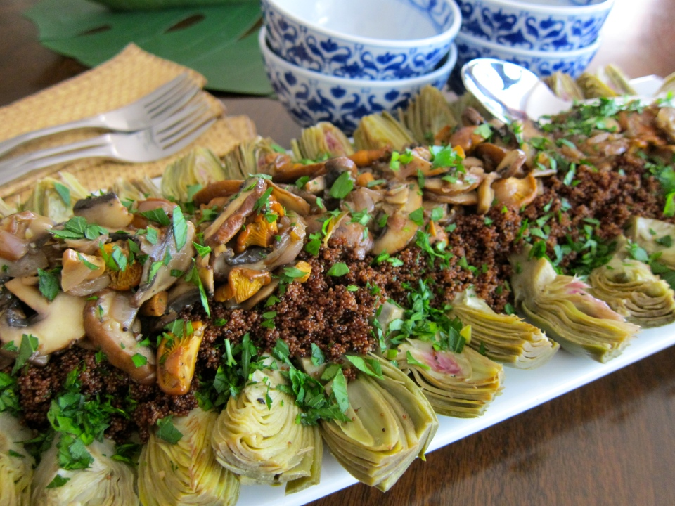 kaniwa recipe, baby artichoke recipe, vegan recipe, vegetarian recipe, healthy recipe, recipe, recipes, jittery cook recipe