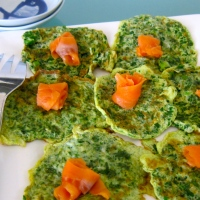 Parsley Omelet with Smoked Salmon
