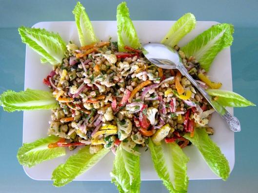marinated Caesar salad, Caesar salad, salad, recipe, recipes, salad recipe, healthy recipe, light Caesar dressing, Caesar dressing, marinated salad, make ahead salad, refrigerated salad, buffet salad, roasted vegetable Caesar salad, Caesar, dressing, salad dressing, vegetarian salad,