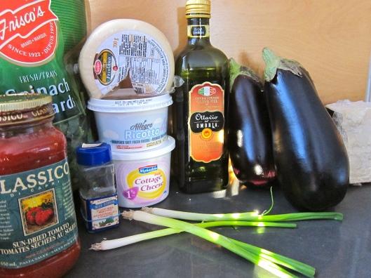 Eggplant Lasagna Ingredients