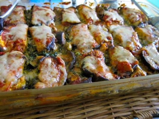 Eggplant Lasagna Sliced and Re-Heated