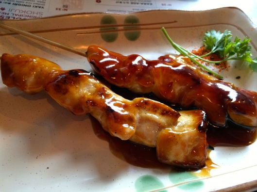 Yakatori - skewered chicken