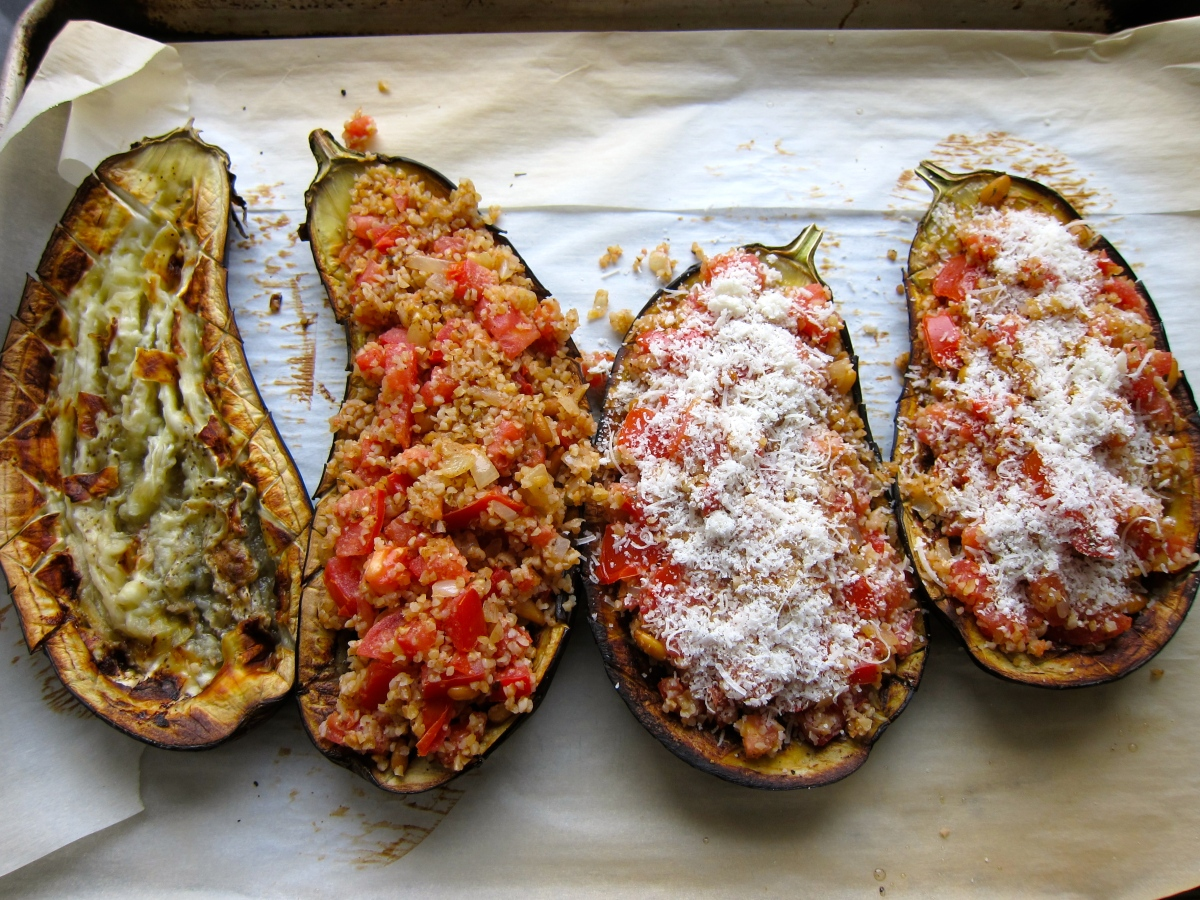 Roasted Stuffed Eggplant - Original!
