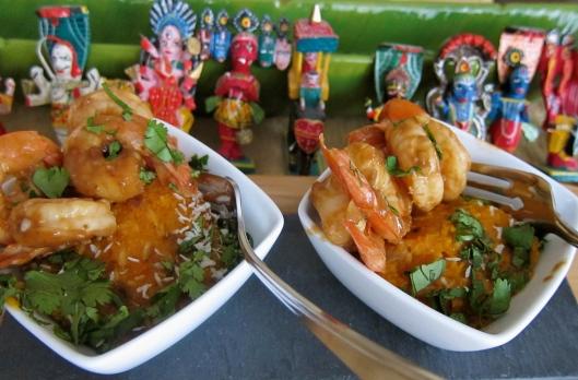 Shrimp on Coconut Butternut Squash