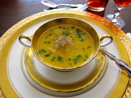 Squash Soup with Faux Noodles