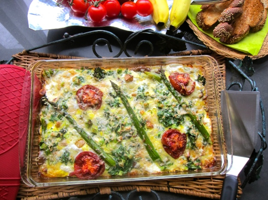 Roasted Veggie Frittata