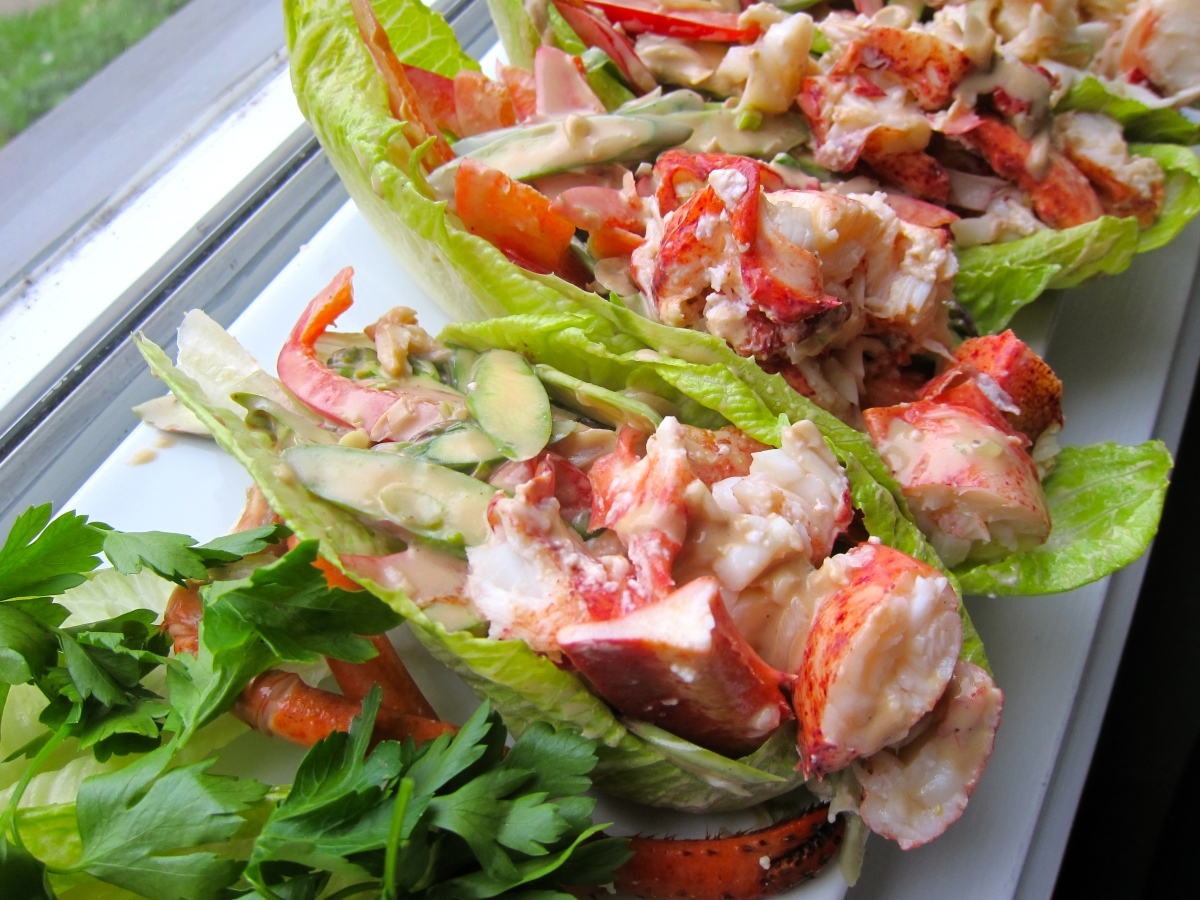 Lobster Salad to Inspire Chihuly | jittery cook