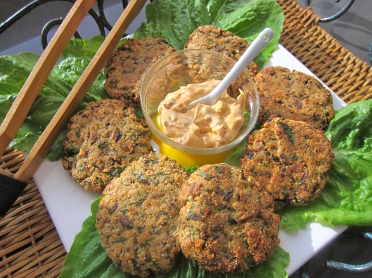 Shiitake Patties with Chipotle Mayonnaise