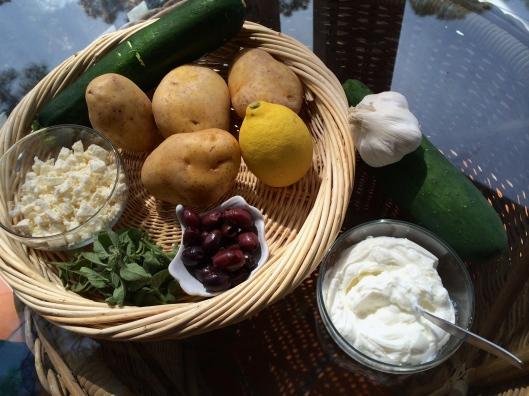 Greek Potatoes with Tsadziki