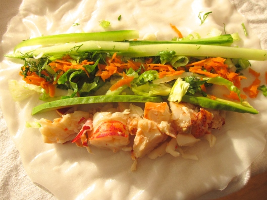 Lobster Wrap with Lemon Dill Mayo