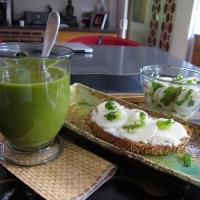 White Radish Greens Soup with Tartine