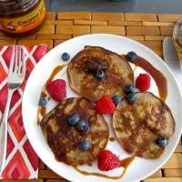 Bananut Pancakes with Coconut Nectar & Jam