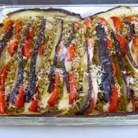 Eggplant Tomato au Gratin - A Freakin' Messipe
